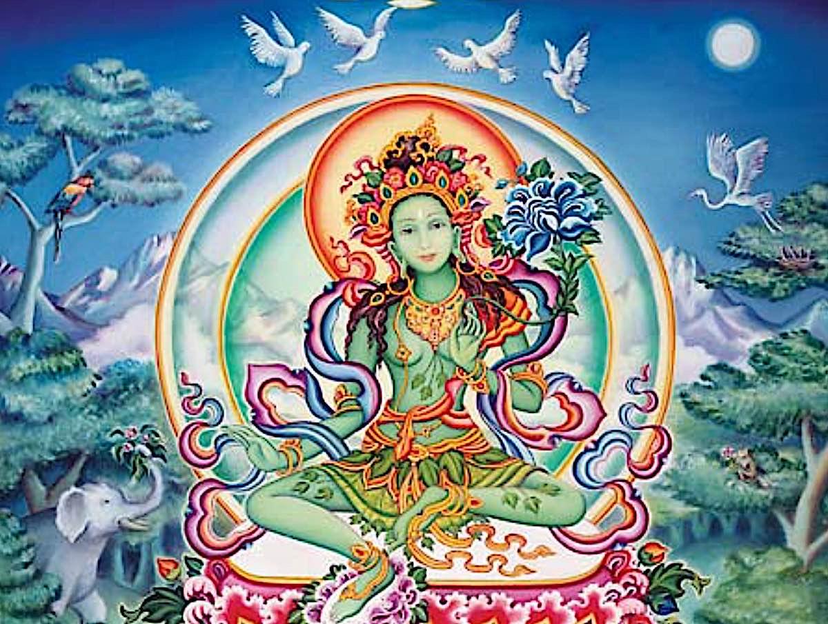 Buddha Weekly Tara of the Kandira Forest Tuquoise Pure Land Yolokod Buddhism
