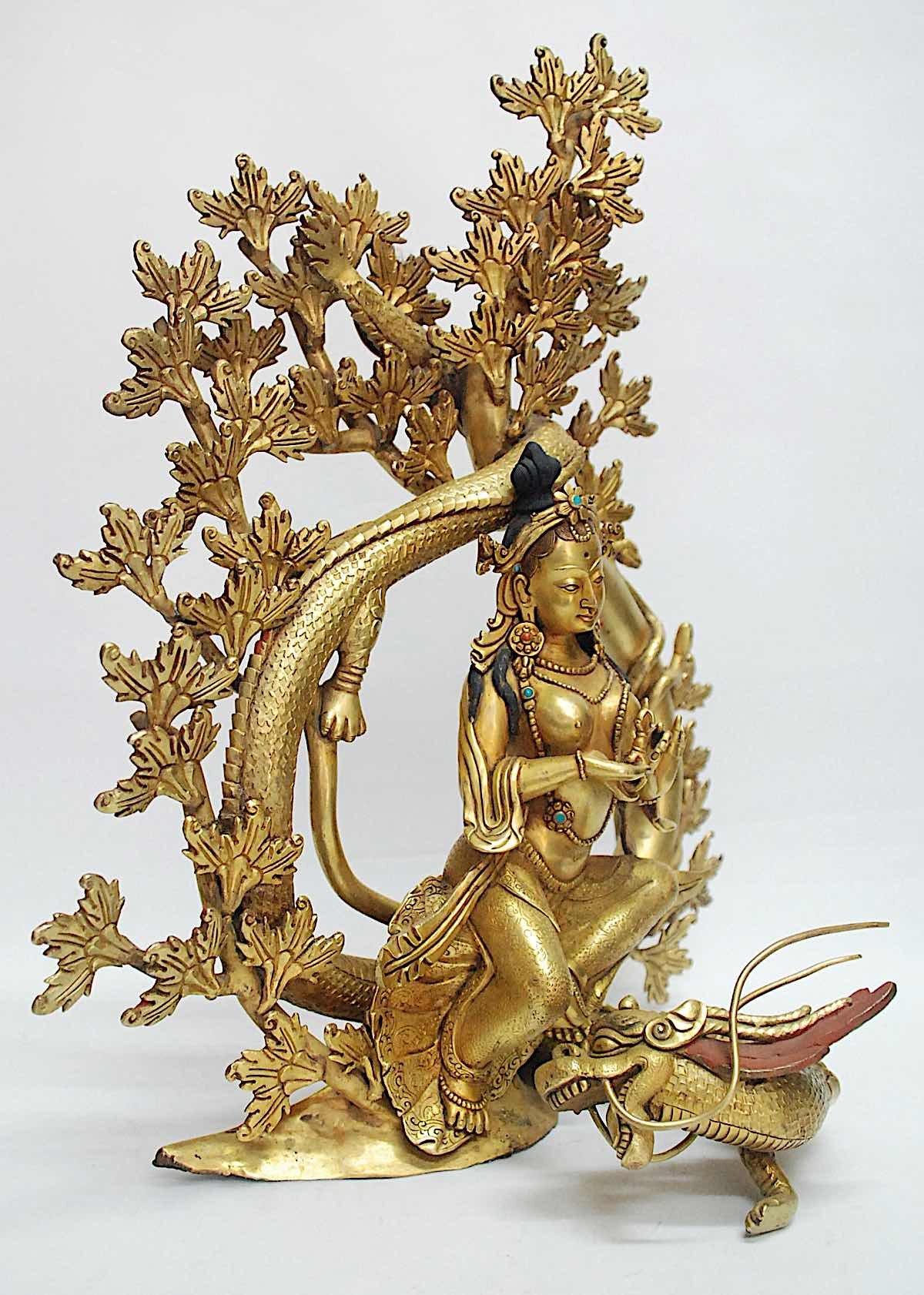 Buddha Weekly Tara on a Dragon Buddhism