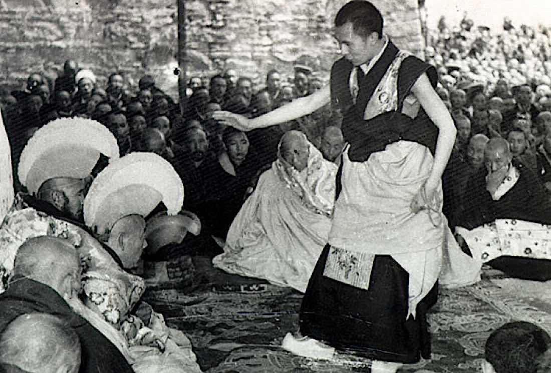 Buddha Weekly The Dalai Lama during final Geshe Lharampa exam in Lhasa Tibet1958 Buddhism