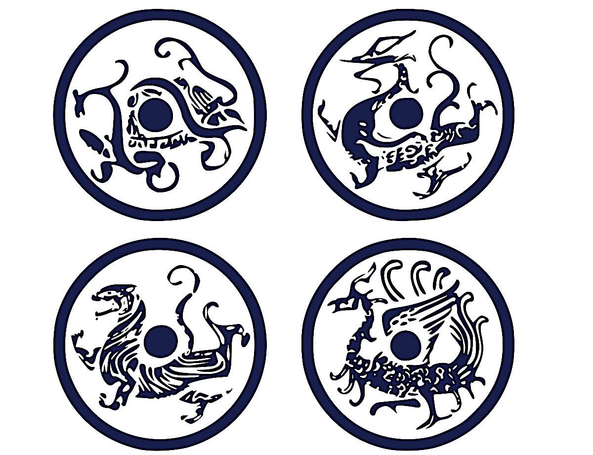 Buddha Weekly The Four Guardians Four Symbols by RootOfAllLight Buddhism