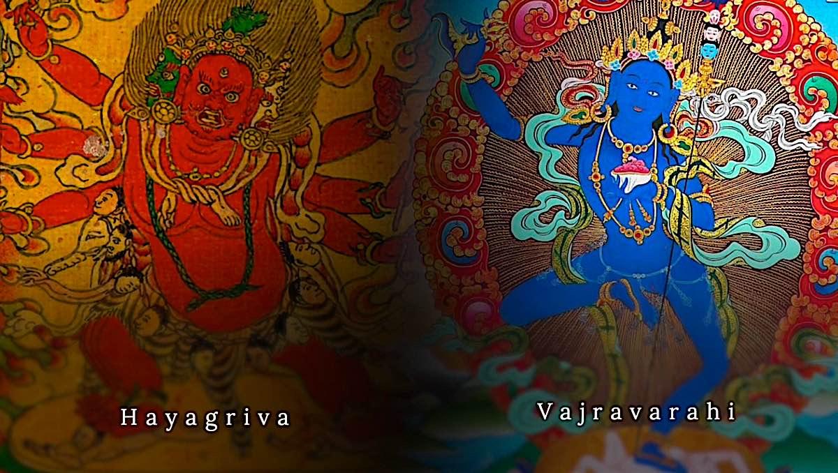 Buddha Weekly The conquerors of Ego Hayagriva and his consort Blue Vajravarahi Vajrayogini Buddhism