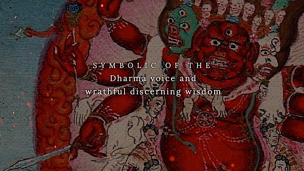 Buddha Weekly The horses neigh of Hayagriva symbolizes Dharma voice and wrathful discerning wisdom Buddhism