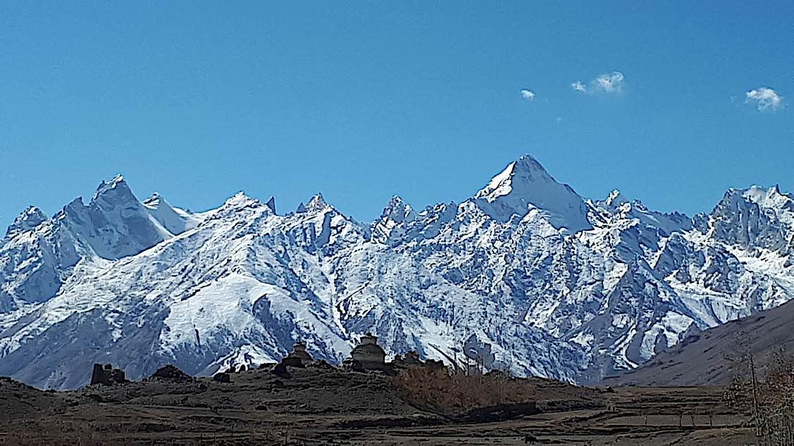 Buddha Weekly The mountainsnear Zangla Byangchub Choling Nunnery in Zanskar Valley Ladakh India Buddhism