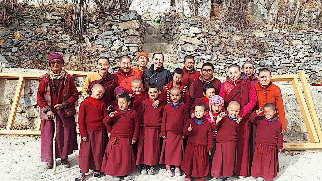 Buddha Weekly The nuns gathered at Zangla Byangchub Choling Nunnery in Zanskar Valley Ladakh India Buddhism