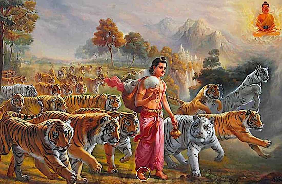 Buddha Weekly The story of Upasaka Dharmatala painted by V V Sapar image courtesy V V Sapar copyrighted Buddhism