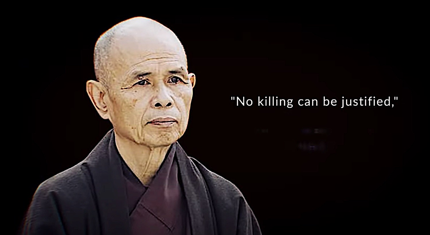 Buddha Weekly Thich Nhat Hanh No Killing can be justified Buddhism