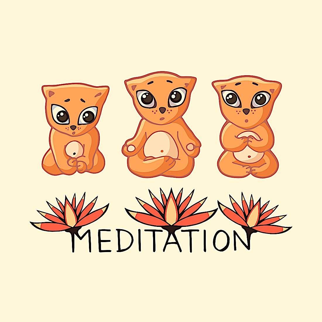 Buddha Weekly Three kittens meditating Buddhism