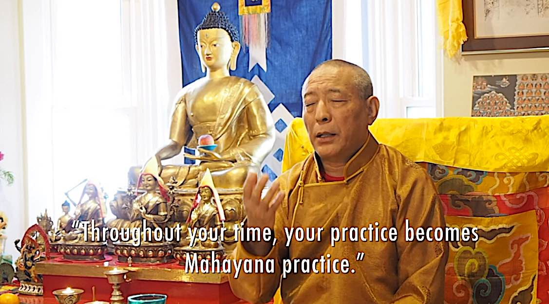 Buddha Weekly Throughout your time your practice becomes Mahayana Venerable Zasep Rinpoche Buddhism