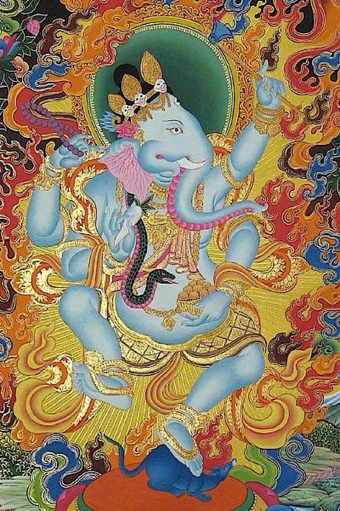 Buddha Weekly Tibetan Buddhist Ganehsa dancing Buddhism