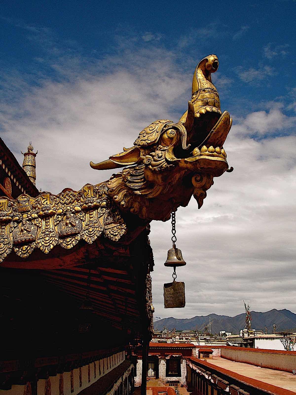 Buddha Weekly Tibetan Dragon Finial temple in Lhasa Tibet dreamstime xxl 96822275 Buddhism