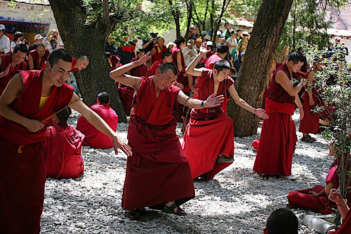 Buddha Weekly Tibetan Vajrayana debate training at Sera Monastery Buddhism
