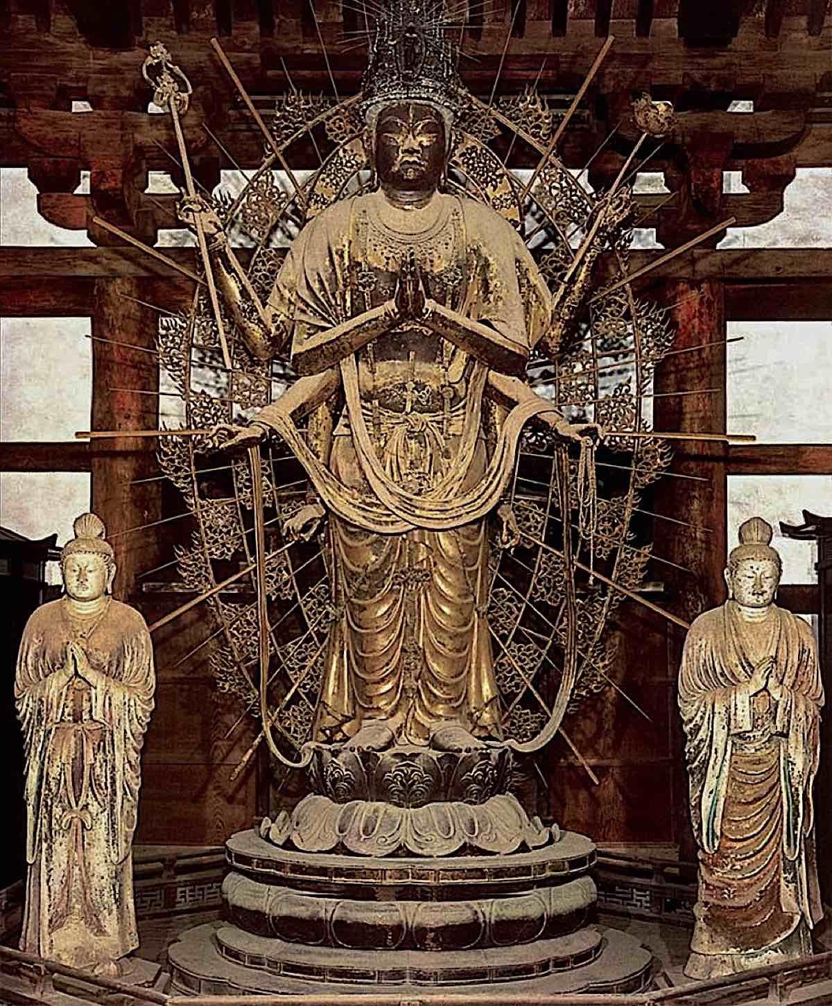 Buddha Weekly Todaiji Monaster Fukuken saku Kannon of Hokke do. Todai ji Buddhism