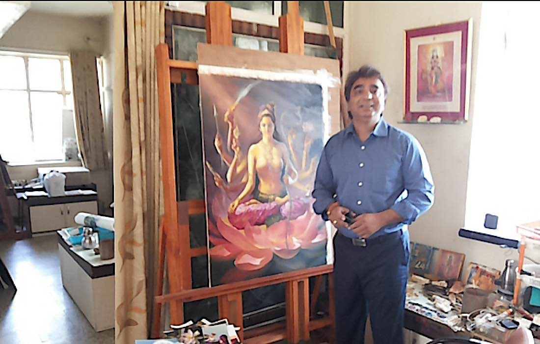 Buddha Weekly V V Sapar painting one of the 21 Taras according to Surya Gupta Tradition for Dzongsar Rinpoche 2 Buddhism