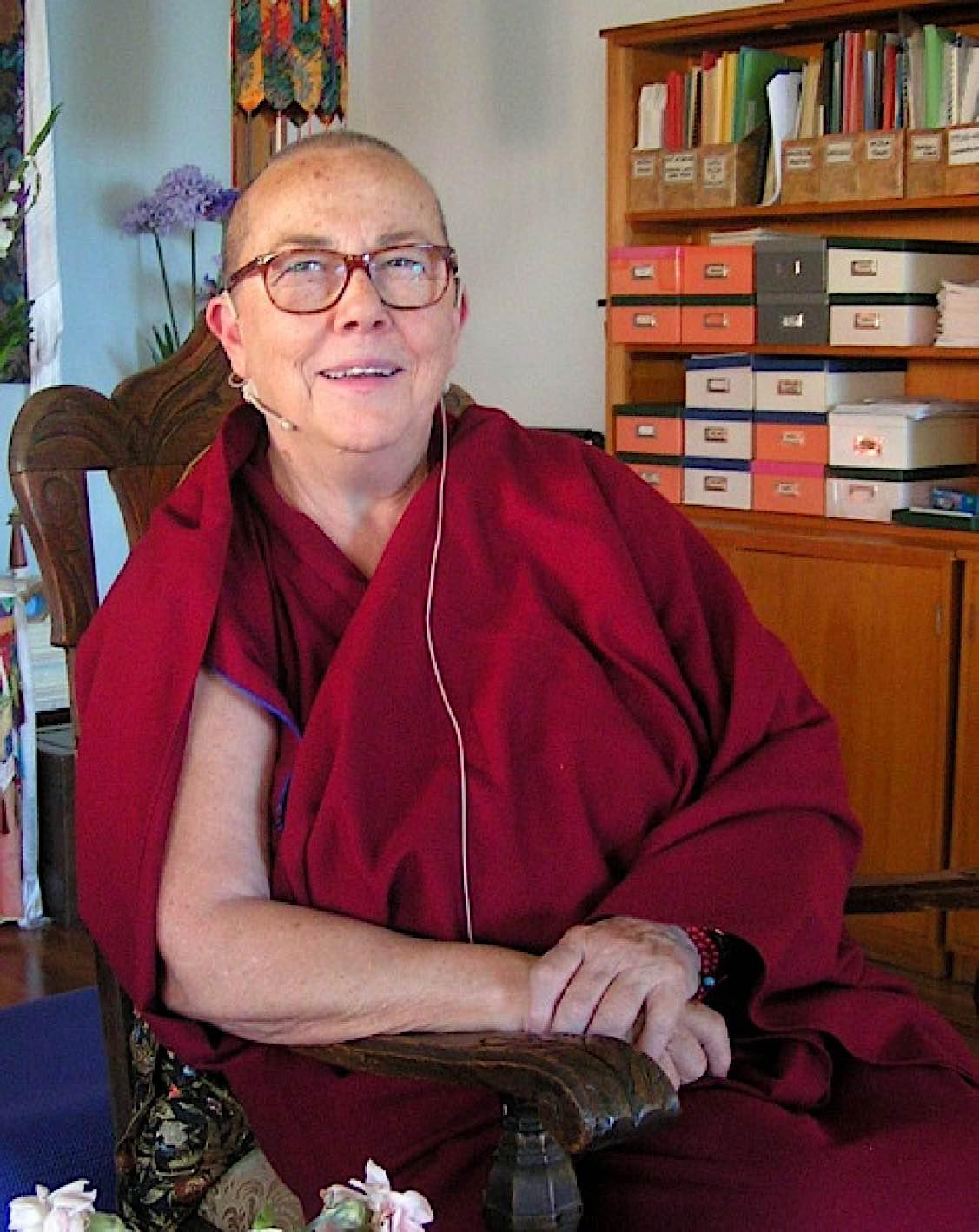 Buddha Weekly Venerable Robina Courtin sitting 3 475x598 Buddhism
