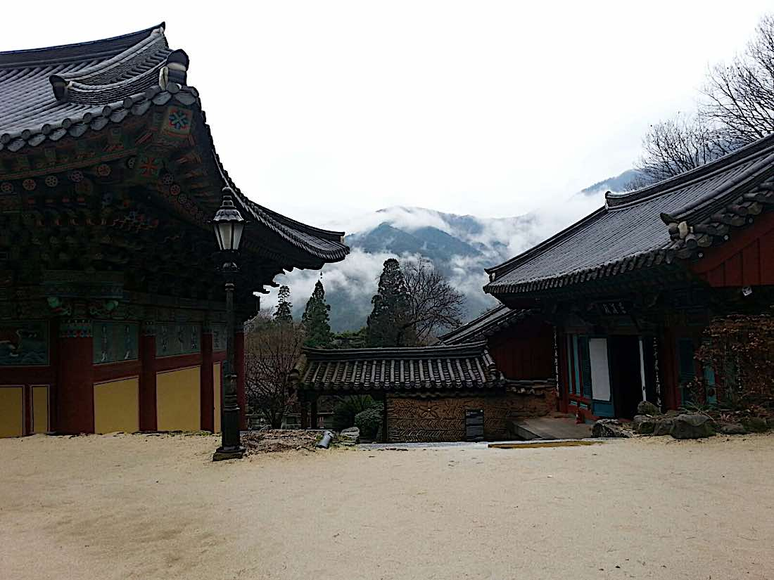 Buddha Weekly View from Ssanggyesa temple Hadong South Korea. Buddhism