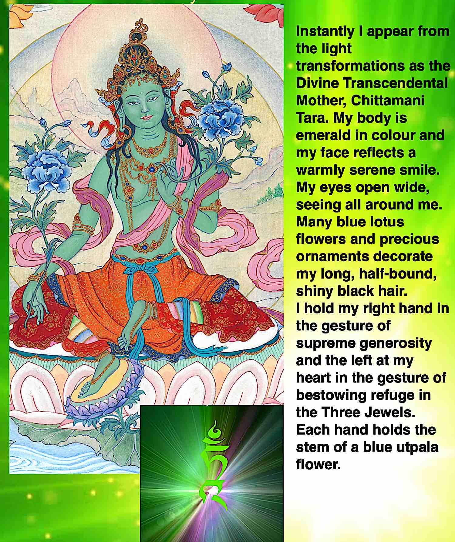 Buddha Weekly Visualization of Tara in images and words both Buddhism