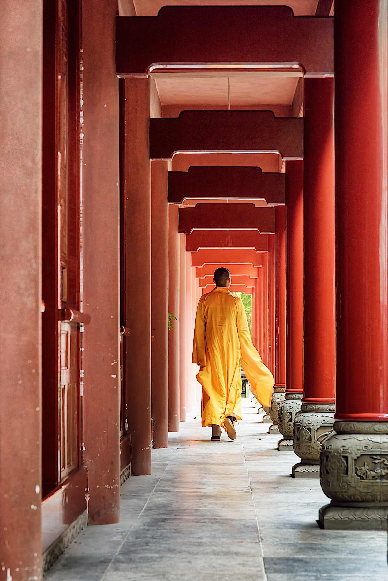 Buddha Weekly Walking Meditation at Monastery Buddhism