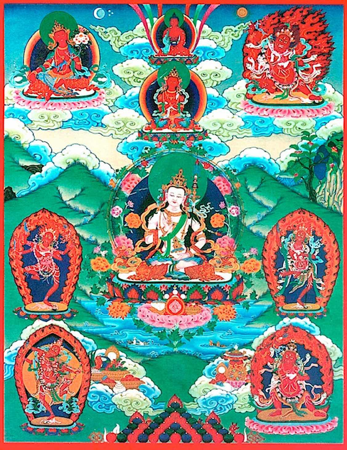 Buddha Weekly Wangdu Magnetizing Deities Thangka Buddhism