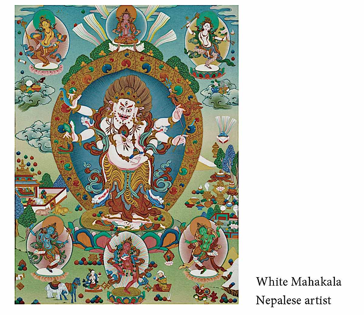 Buddha Weekly White Mahakala by a Nepalese Artist in the Source of all Protectors book Buddhism