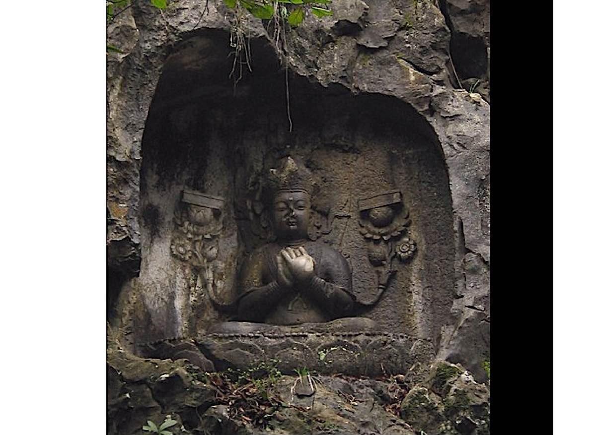 Buddha Weekly White Prajanaparamita ancient sculpture in rock 1300 1399 China Buddhism