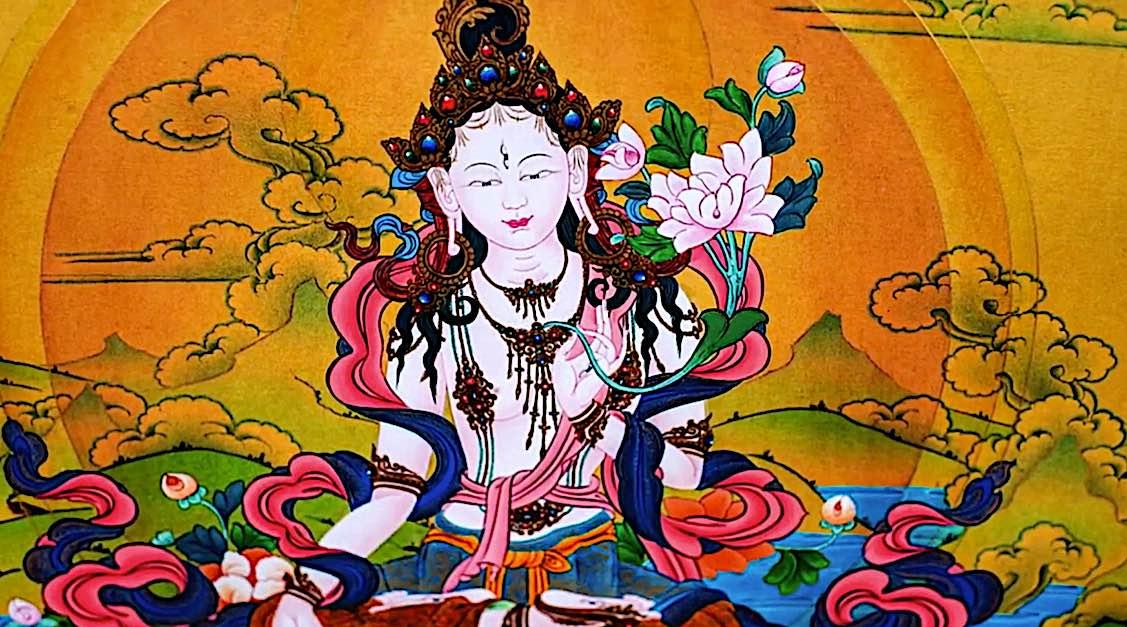 Buddha Weekly White Tara Video long life practice beatuiful white tara Buddhism