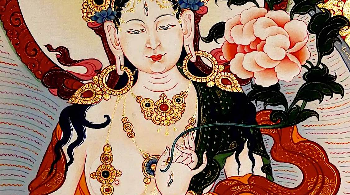 Buddha Weekly White Tara Video long life practice close up Buddhism