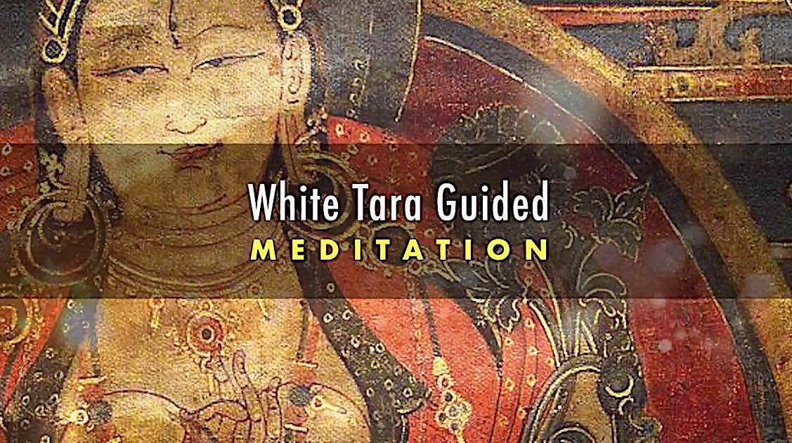 Buddha Weekly White Tara Video long life practice guided meditation title Buddhism