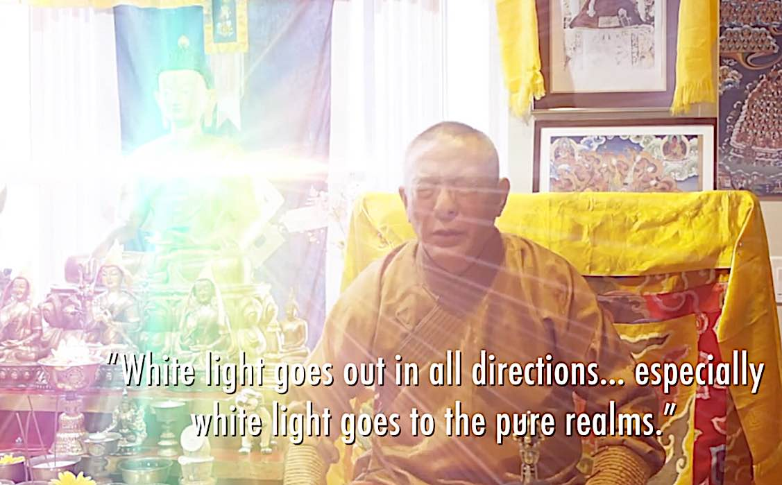 Buddha Weekly White Tara Video long life practice white light goes in all directions Buddhism