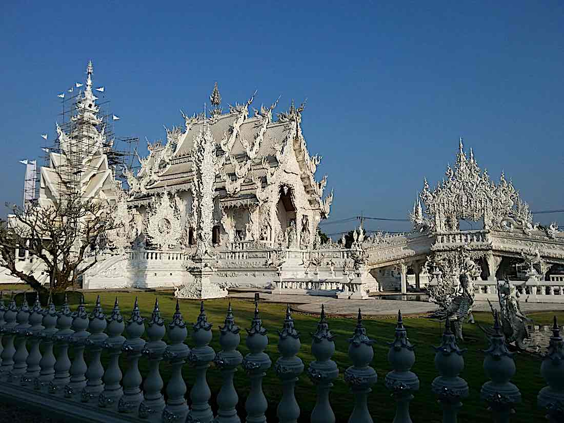 Buddha Weekly White temple. Chiang Rai Thailand Buddhism