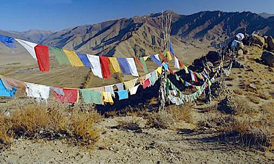 Buddha Weekly Wind horse prayer flags Buddhism