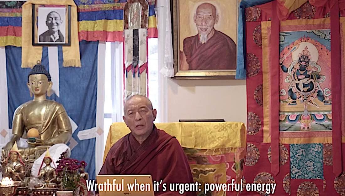 Buddha Weekly Wrathful vs peaceful Black Manjushri Buddhism