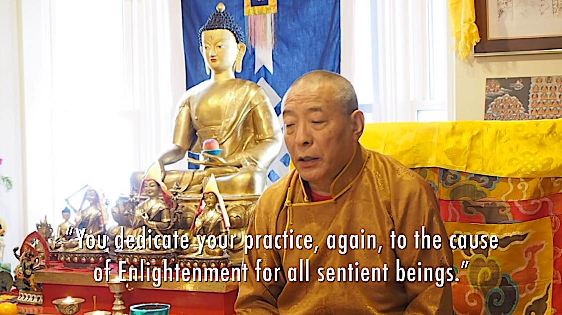 Buddha Weekly You dedicate your practice to the cause of Enlightenment for all beings Zasep Rinpoche Buddhism