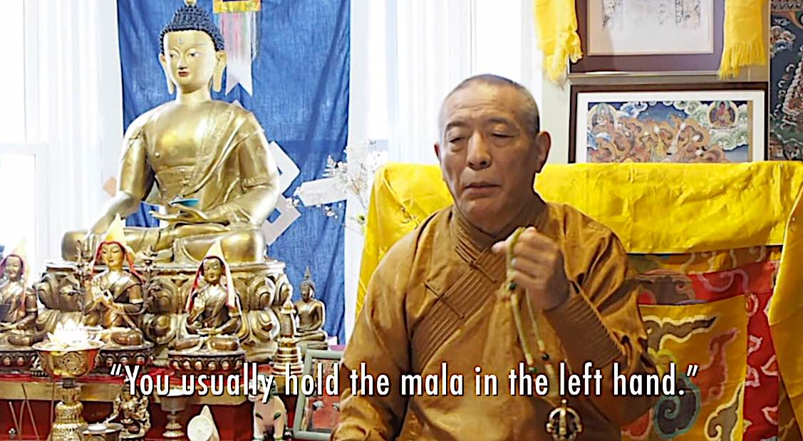 Buddha Weekly You usually hold your mala in the left hand for Tara Tara meditation Zasep Rinpoche Buddhism