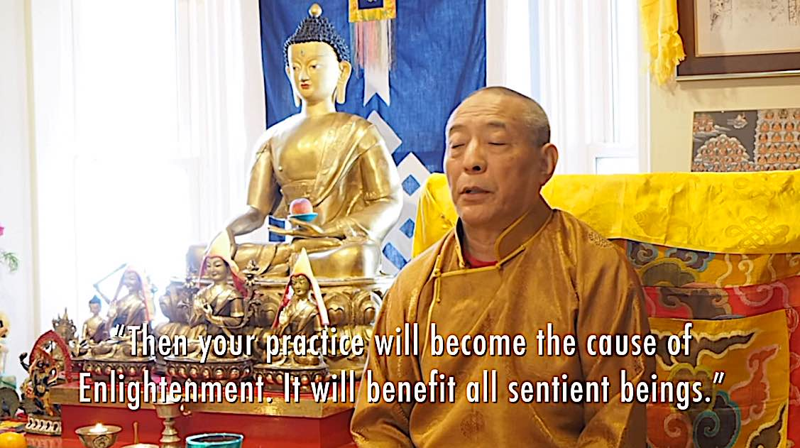 Buddha Weekly Your practice will become the cause of Enlightnement to benefit all beings Zasep Rinpoche Buddhism