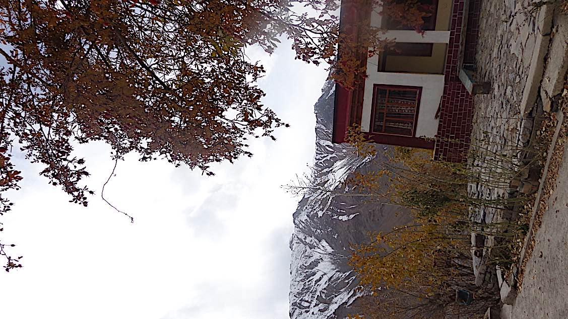 Buddha Weekly Zangla Byangchub Choling Nunnery in Zanskar Valley Ladakh India view Buddhism