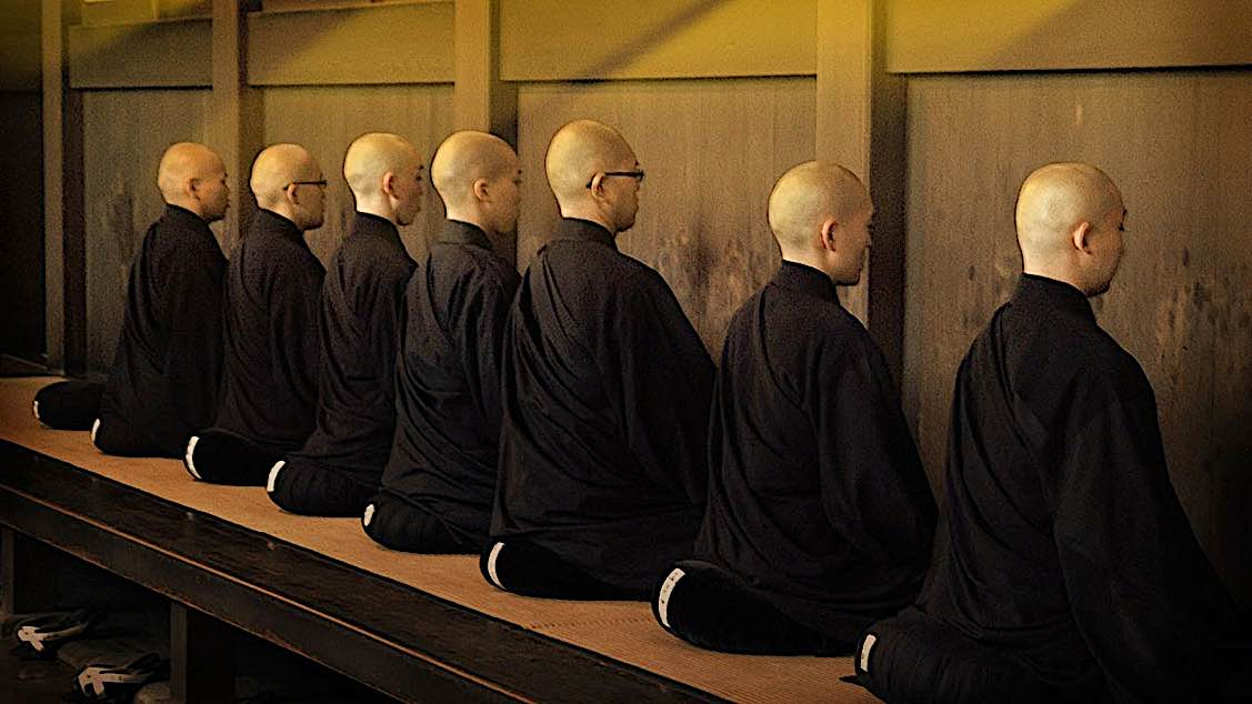 Buddha Weekly Zen facing wall meditating Buddhism