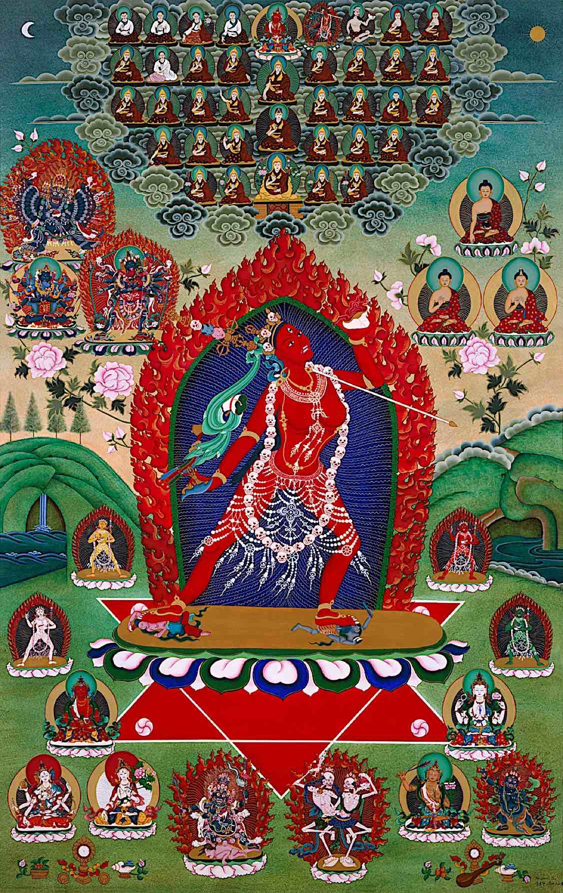 Buddha Weekly beautiful vajrayogini mandala and lineage Buddhism