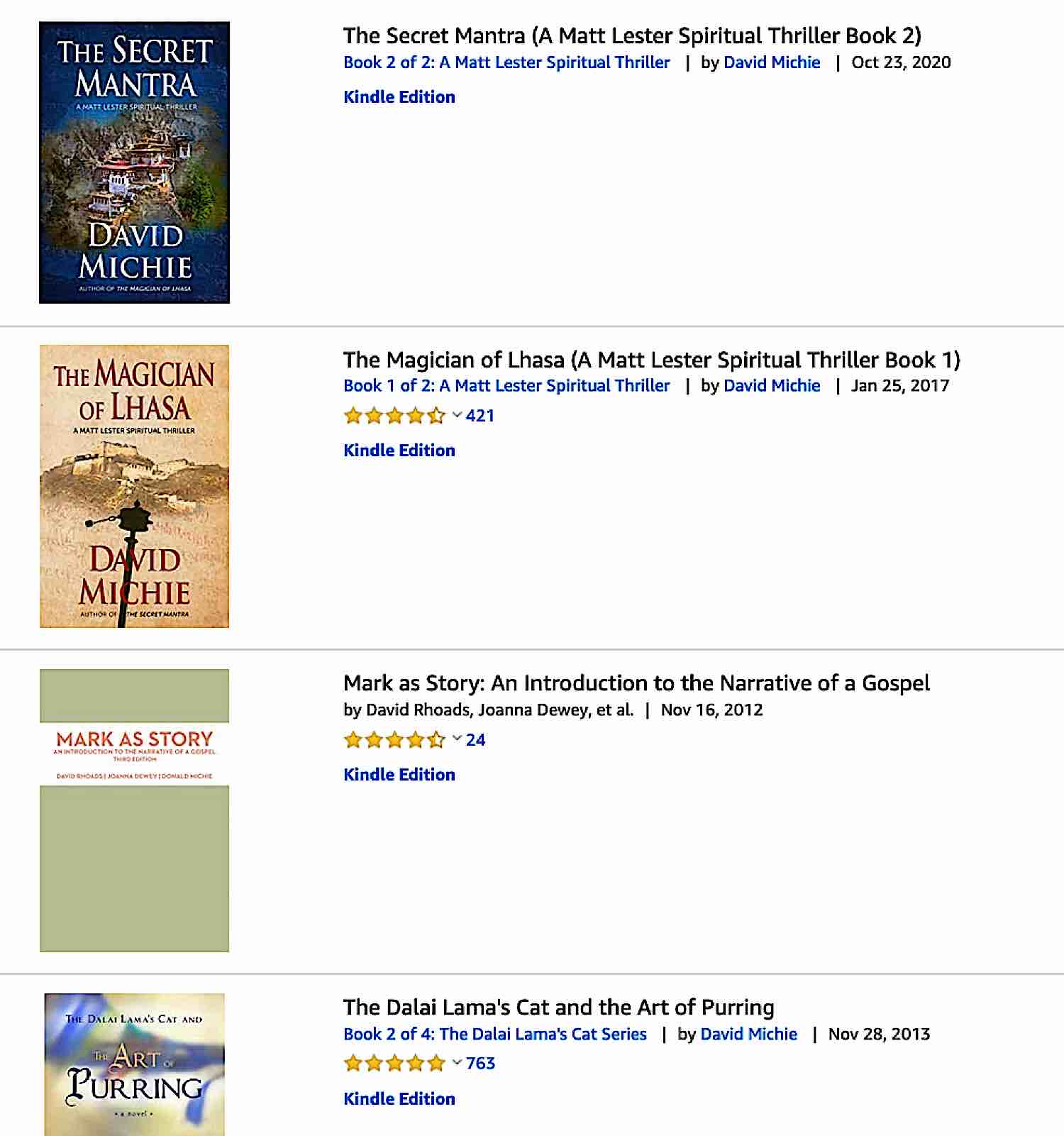 Buddha Weekly david Michie books Buddhism
