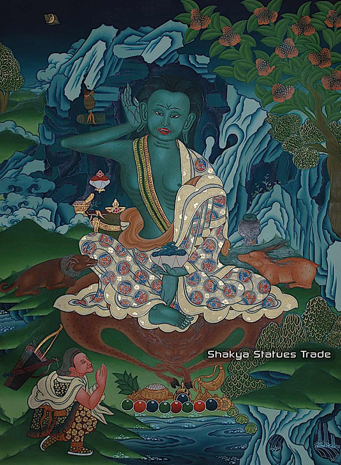 Buddha Weekly milarepa thangka detail big Buddhism