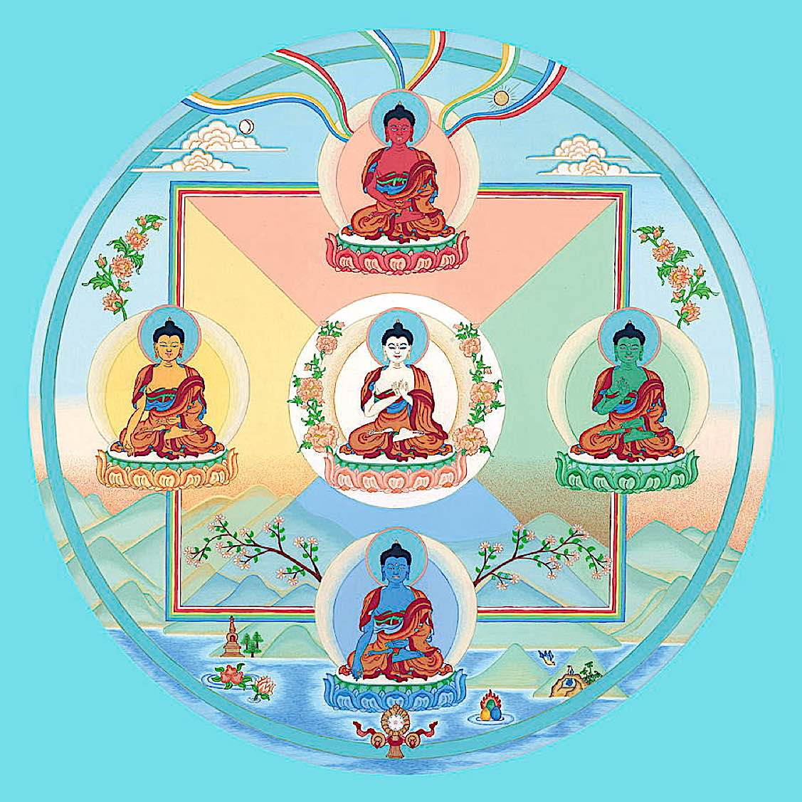 Buddha Weekly the 5 dhyani buddhas Buddhism