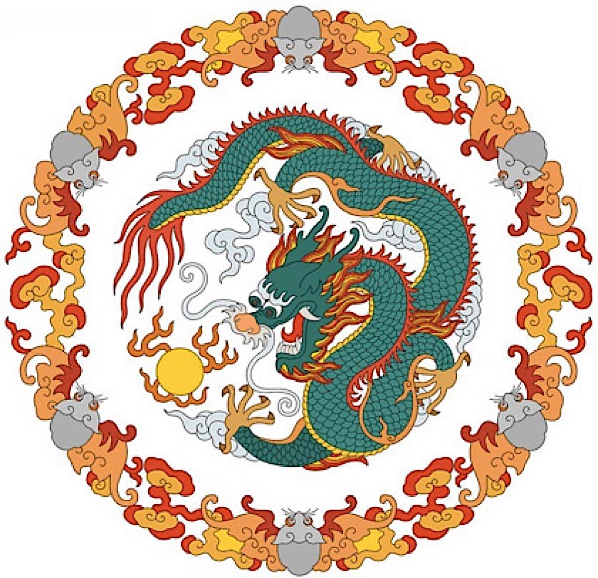 Buddha Weekly vector chinese dragon Buddhism