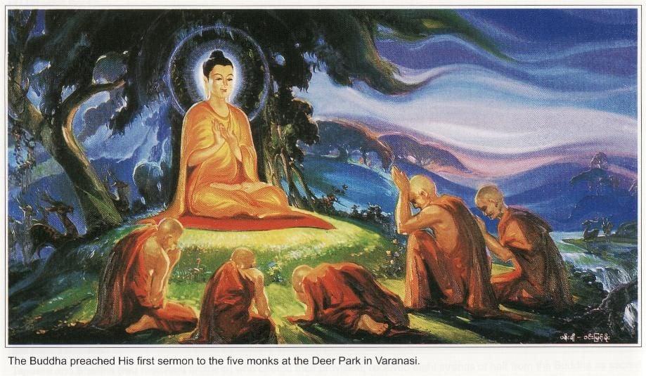Buddha teaching at Deer Park