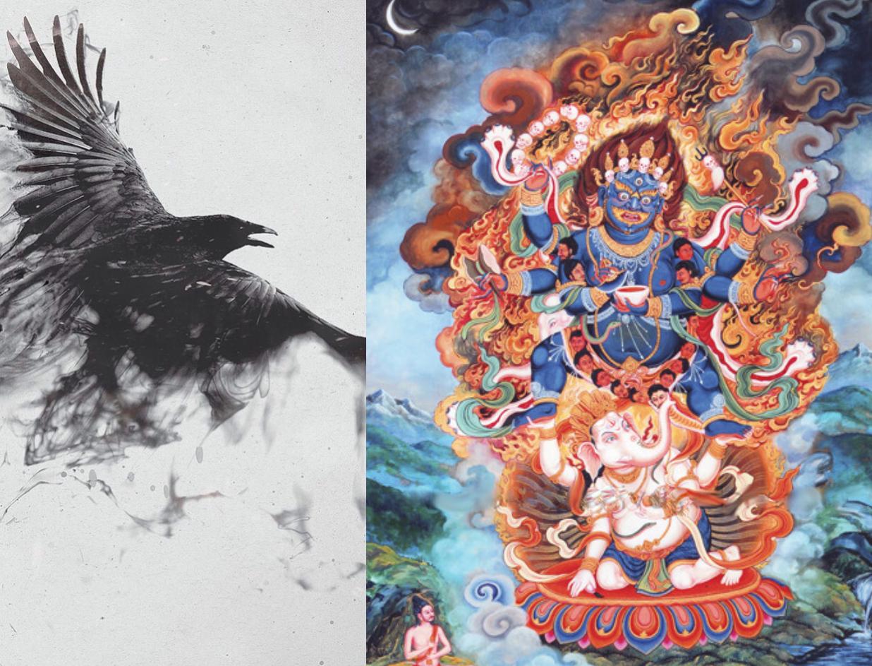Crow and Mahakala full image