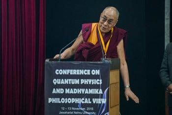 Dalai Lama at a conference on Quantum Physics