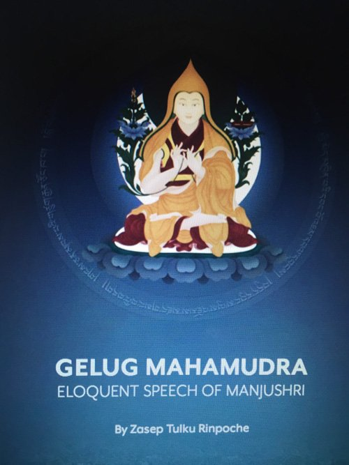 Cover of a new book by H.E. Zasep Rinpoche: Gelug Mahamudra.