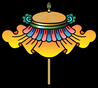 Jewelled Parasol Buddhist Symbol