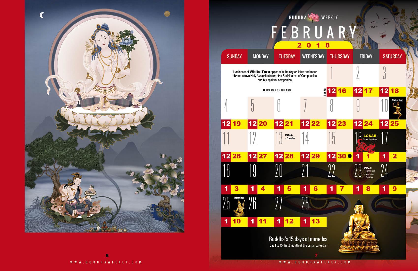 Lunar Calendar 2018 12 Buddha Weekly 2 February low 2