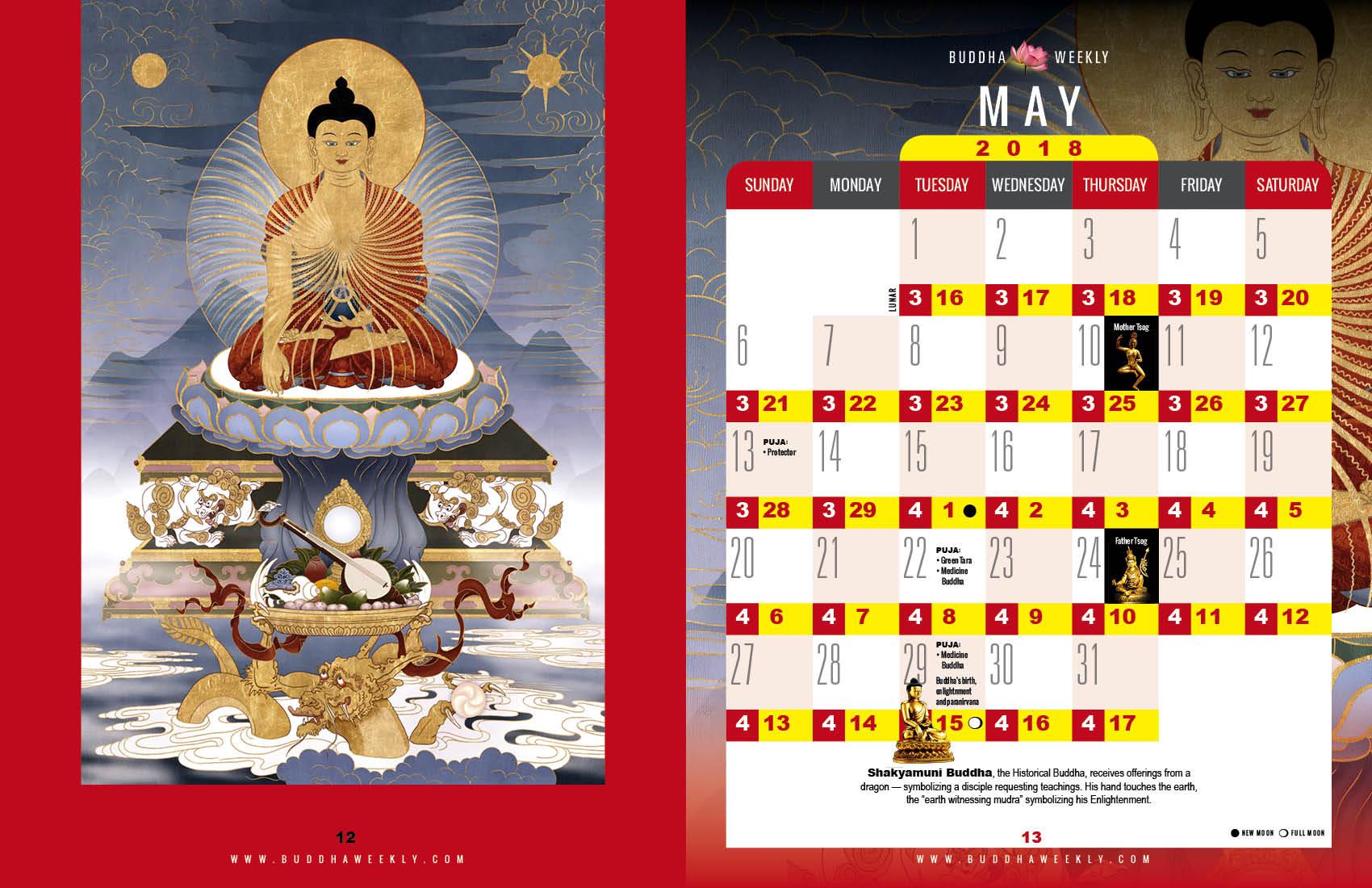 Lunar Calendar 2018 12 Buddha Weekly 5 May low 5