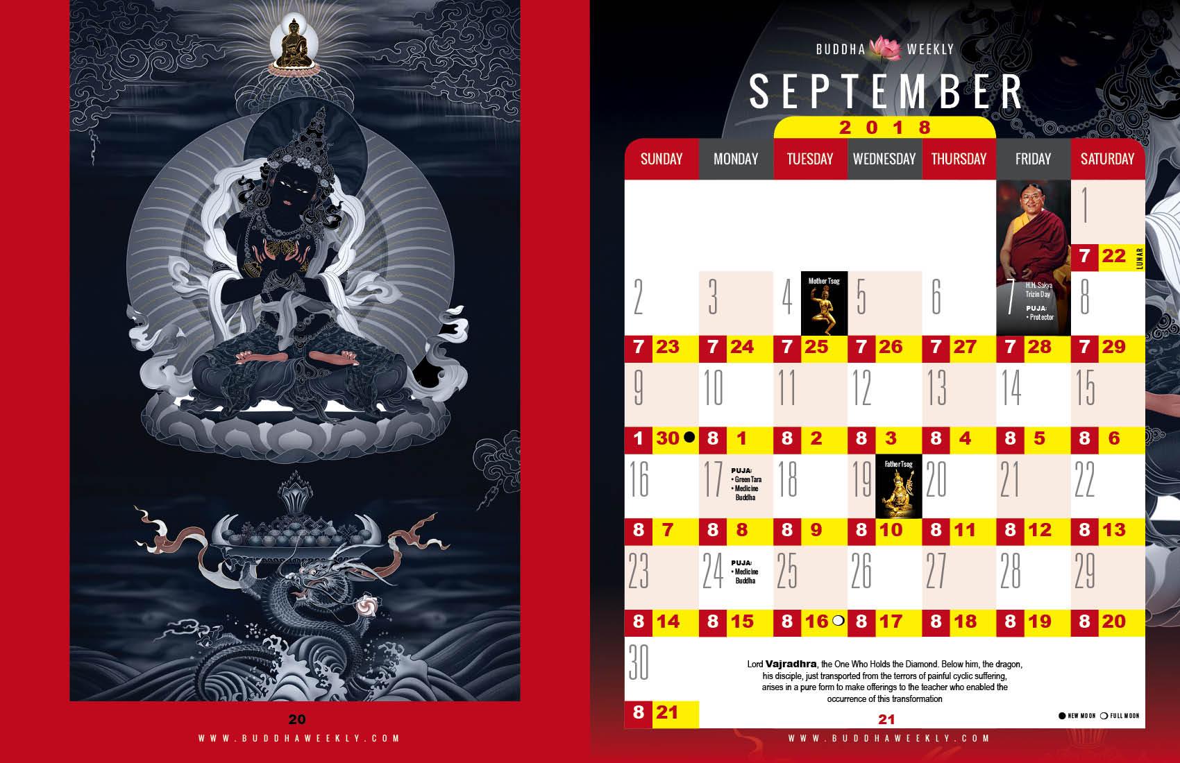 Lunar Calendar 2018 12 Buddha Weekly 9 August low