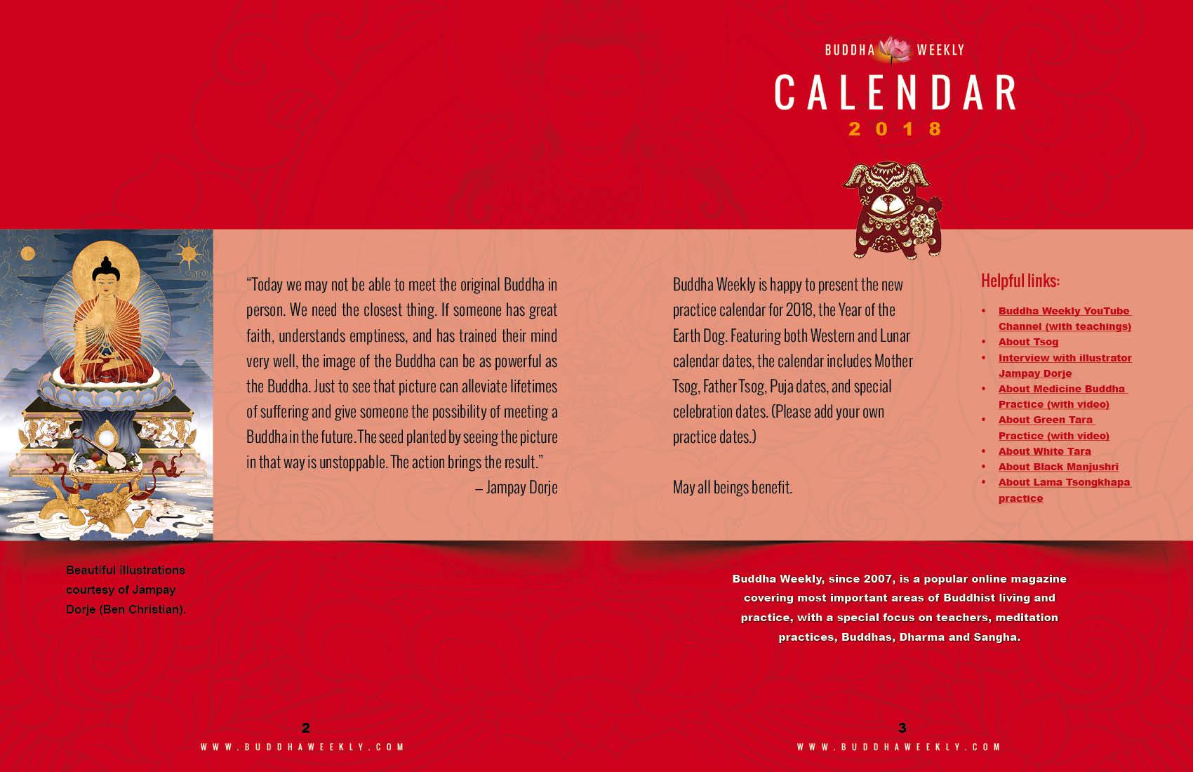 Lunar Calendar 2018 12 Buddha Weekly inside intro low